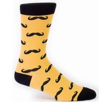 Men's Mustache Socks - Crew Socks by Sock it To Me - Whimsical & Unique Gift Ideas for the Coolest Gift Givers