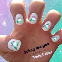 Space Cat Nail Art - Sokay Designs x Funky Catsterz