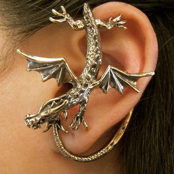 Bronze Sentry Dragon Ear Wrap