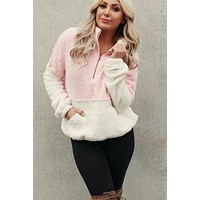Snowy Days Pullover (Pink)