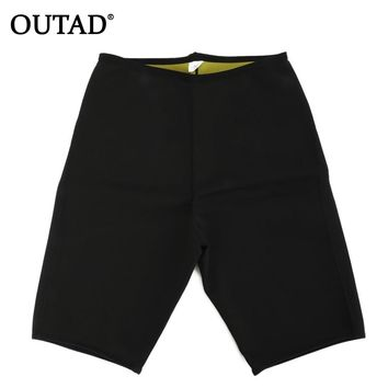 OUTAD Unisex Slimming Yoga Shorts Body Shapers Fitness Sweat Shorts Weight Loss Burn Fat Super Stretching Neoprene