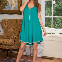 Breeze To Meet You Dress, Teal
