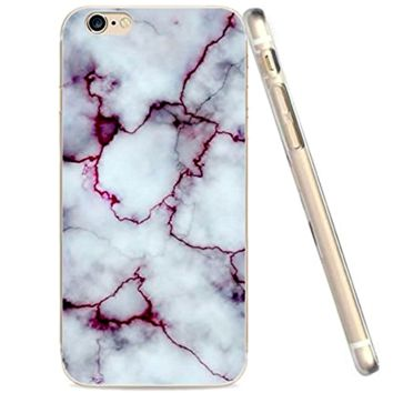 Purple Marble Pattern Case for Iphone 6, 6s Case Soft Flexible TPU Slim Fit ( FREE SHIPPING )