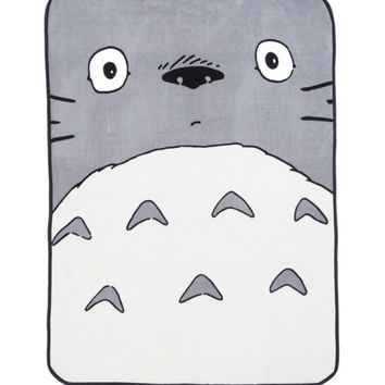 Studio Ghibli My Neighbor Totoro Face Plush Throw