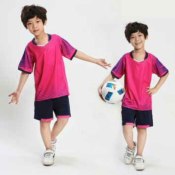 Boys girls survetement football jerseys kids soccer sets training suits team sport kit clothing breathable print customized draw