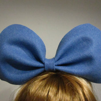 Royal blue oversized bow bunny headband/hair accessory jewelry/extra large big huge bow/party/sky blue headpiece