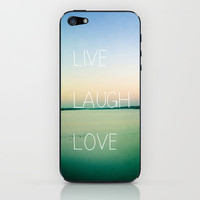 Live Laugh Love iPhone & iPod Skin by Olivia Joy StClaire | Society6