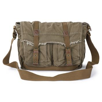 Canvas Frayed Style Messenger Bags #80808