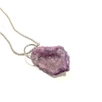 Pastel Dreams Druzy Stone Necklace