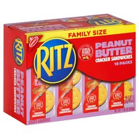 Ritz Peanut Butter Cracker Sandwiches - Family Size - 16ct/1.38oz