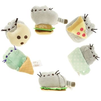 "3"" Tiny Cute Brinquedos Pusheen Cat KeyChain Toys Christmas Gift Key Chain"