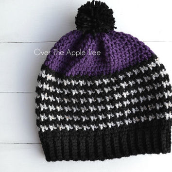 Woman's Houndstooth Slouch Hat