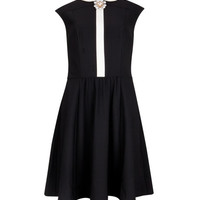 Brooch collar dress - Black | Dresses | Ted Baker