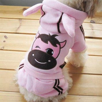 ESBON Hot Selling Dog Cartoon Clothes Soft Winter Warm Pet  Cozy Snowflake Dog Costume Clothing Jacket Teddy Hoodie Coat