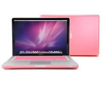 Amazon.com: GMYLE® Pink Frosted-see-through Hard Shell Snap On Case Skin for Aluminum Unibody 13 Inches Macbook Pro with Silicone PinkProtective Keyboard Cover: Computers & Accessories