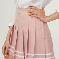 Pleated skirt - Powder pink - Ladies | H&M GB