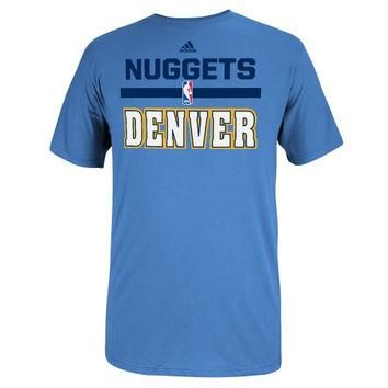 Denver Nuggets adidas 2014 Draft Team Outlet T-Shirt - Powder Blue