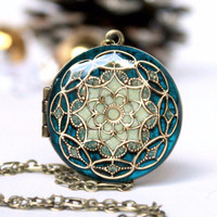 Blue/ Locket/ Necklace/ Gift/ For/ Her/ Graduation Gift/ Women's Jewelry/ Gift/ For/ Girlfriend/ Handmade Gift/ Romantic/ Gifts/ Weddings/