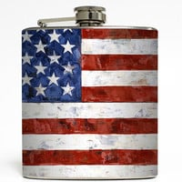 Old Glory - American Flag Flask