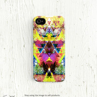 Geometric iPhone 4 case, geometric iPhone 5 case, for 4s 4 5 colorful iphone 4 case for iphone 5 case neon iphone 4 case /c79
