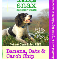 Ma Snax Organic Banana-Carob Chip & Coconut Dog Biscuits