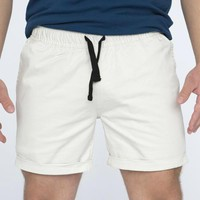 The 'Paradise' Stretch Twill Short in Ivory