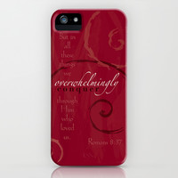 Romans 8:37 iPhone & iPod Case by Natalie Ryder