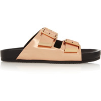 Givenchy - Metallic leather sandals
