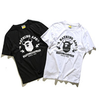 'BAPE' Short Sleeve Print Cotton T-shirts [10425655559]