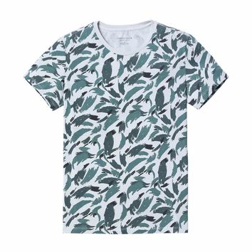 Blue-Scale Painted Tee