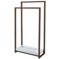 Kingston Brass SCC8265 Pedestal 2-Tier Steel Construction Towel Rack with Wooden Case, Oil Rubbed Bronze - Oil Rubbed Bronze