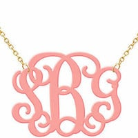 Monogram Acrylic Necklace on Luulla