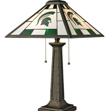 Michigan State University Glass Table Lamp