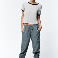 Kendall & Kylie Cargo Pocket Jogger Pants - Womens Pants - Green