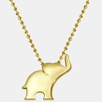 Women's Alex Woo 'Little Luck' Elephant Pendant Necklace - Yellow Gold - Elephant