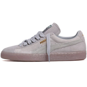 Suede Classic+ Iced Sneakers Grey Violet