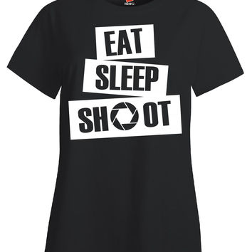 Photographer Eat And Shoot - Ladies T-Shirt