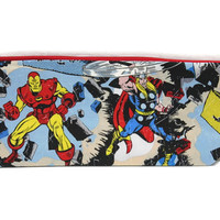 Avengers drop spindle project bag, knitting project bag, knitting project bag, avengers