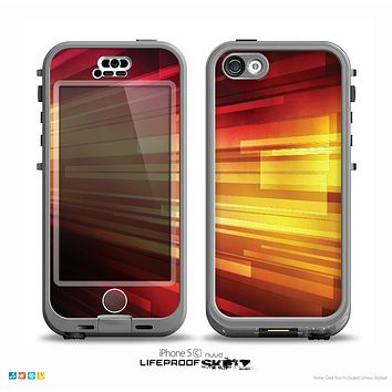 The Neon Orange 3D Rectangles Skin for the iPhone 5c nüüd LifeProof Case
