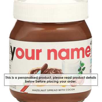 Personalised Nutella 400g