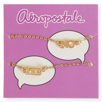 Aeropostale  Womens Yes No Short-Strand Necklace 2-Pack