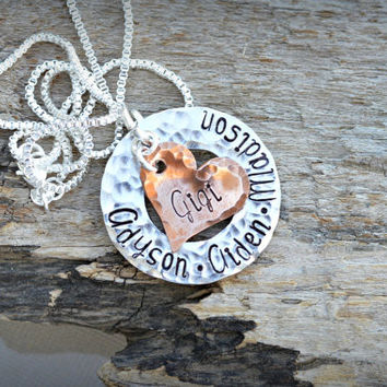 Gigi Necklace Personalized with kids names