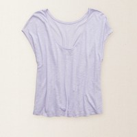 AERIE LOW BACK CROP TEE