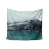 "Ann Barnes ""Into the Mist"" Teal Wall Tapestry"