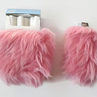 SALE Cigarette Case. Kawaii Pink Cigarette Holder. Girly Lighter Case. Pink Faux Fur.