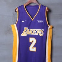 Los Angeles Lakers #2 Lonzo Ball Nike Statement Edition NBA Jerseys - Best Deal Online