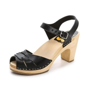 Swedish Hasbeens Peep Toe Super High Sandals