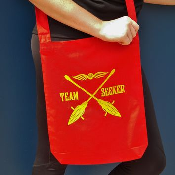 Quidditch Seeker Sling Bag. Gryffindor Crossbody Bag.