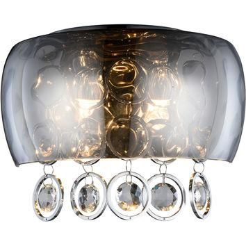 "Jordan 11"" W Wall Sconce, Chrome Finish, Clear Crystal, Royal Cut"