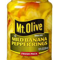 Mt. Olive Mild Banana Pepper Rings - 12 oz Glass Jar